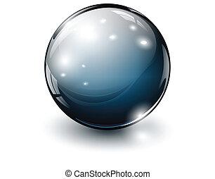 glass sphere - 3D glass sphere, vector illustration.