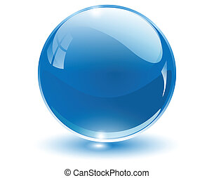 3D crystal sphere, vector illustration