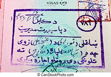 Visa passport stamp