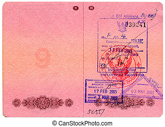 Passport stamps