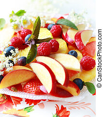 Fresh fruit dessert - Variation of fresh fruits as dessert