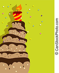 Birthday cake - Vector picture with birthday cake
