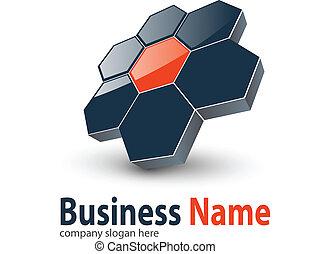 Logo 3d hexagons