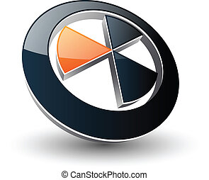 Logo abstract symbol black and orange,vector.