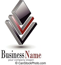 logo design - Logo 3d design for business, vector...