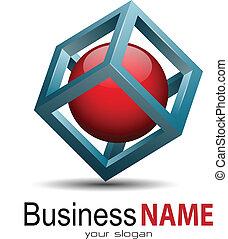 Logo - Vector business logo, 3d modern design.
