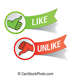 Thumb up and down gestures