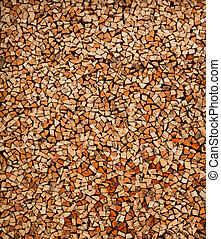 Firewoods background. Wooden logs in stack