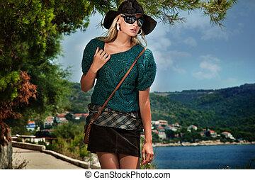 Photo of a stylish woman