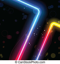 Rainbow Lines Background with Sparkles and Swirls. - Vector...