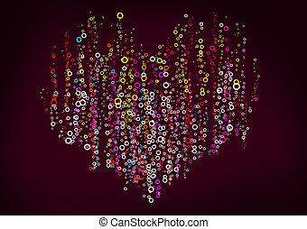 Color, círculos, corazón