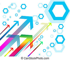 colorful arrows on a white background