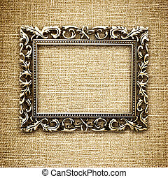 golden frame on a canvas background