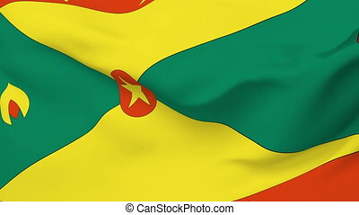 Flag of Grenada - Flag of the Grenada waving in the wind...