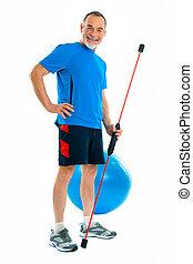 senior in gym