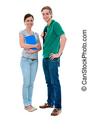 high-school students - couple of high-school students...