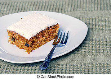 Carrot cake with a fork