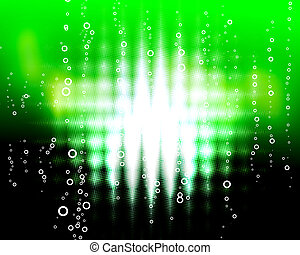green zigzag  blast with bubbles