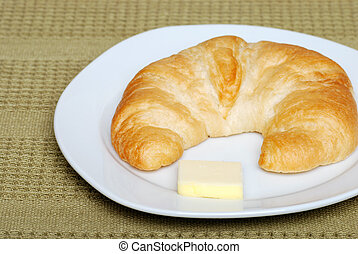 crescent with butter