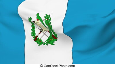 Flag of Guatemala - Flag of the Guatemala waving in the...