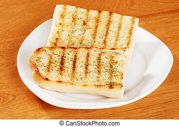 garlic bread with herbs