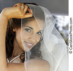 Beautiful bride - The beautiful bride is closed by a veil