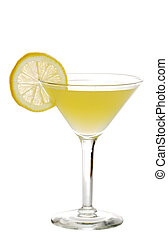 Lemon martini - isolated Lemon martini