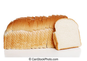 loaf of white bread - isolated loaf of white bread