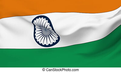 Flag of India - Flag of the India waving in the wind....