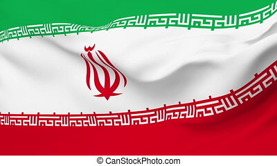 Flag of Iran - Flag of the Iran waving in the wind. Seamless...