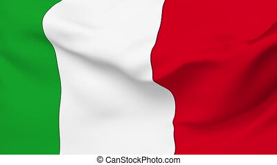 Flag of Italy - Flag of the Italy waving in the wind....