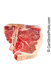 Raw T Bone Steak - isolated Raw T Bone Steak