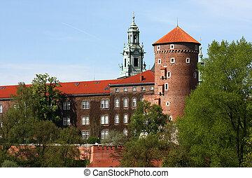 Wawel - Polish Wawel castle in spring