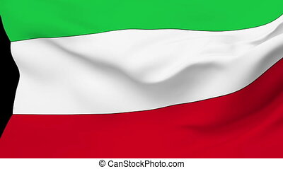 Flag of Kuwait - Flag of the Kuwait waving in the wind...
