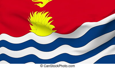 Flag of Kiribati - Flag of the Kiribati waving in the wind...