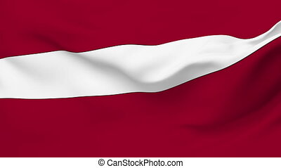 Flag of Latvia - Flag of the Latvia waving in the wind....