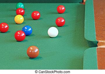 snooker balls focus white cue ball - snooker balls focus on...