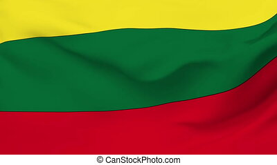 Flag of Lithuania - Flag of the Lithuania waving in the...