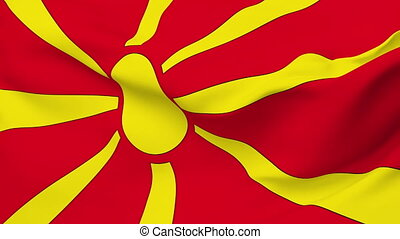 Flag of Macedonia - Flag of the Macedonia waving in the wind...