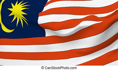 Flag of Malaysia - Flag of the Malaysia waving in the wind...