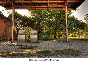 Abandoned Gas Station - Old, rusty and abandoned gas sation...