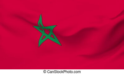 Flag of Morocco - Flag of the Morocco waving in the wind...