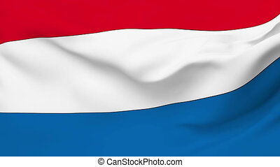 Flag of Netherlands - Flag of the Netherlands waving in the...
