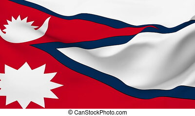 Flag of Nepal - Flag of the Nepal waving in the wind....