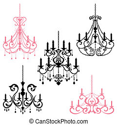 Chandelier - Illustration vector