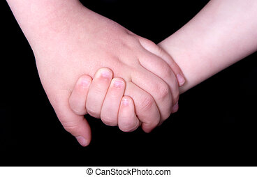 Children Holding Hands - Touching Photo of Two Children...