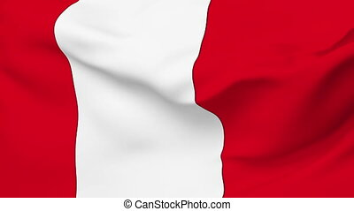 Flag of Peru - Flag of the Peru waving in the wind. Seamless...