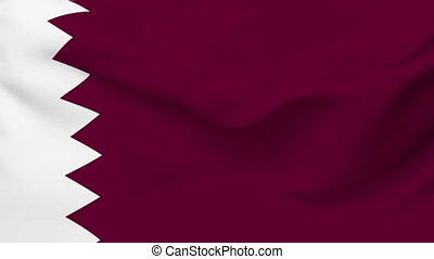 Flag of Qatar - Flag of the Qatar waving in the wind....