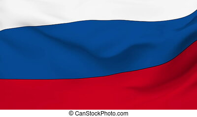 Flag of Russia - Flag of the Russia waving in the wind...
