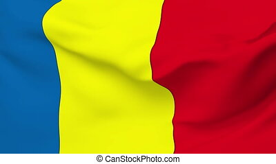 Flag of Romania - Flag of the Romania waving in the wind...